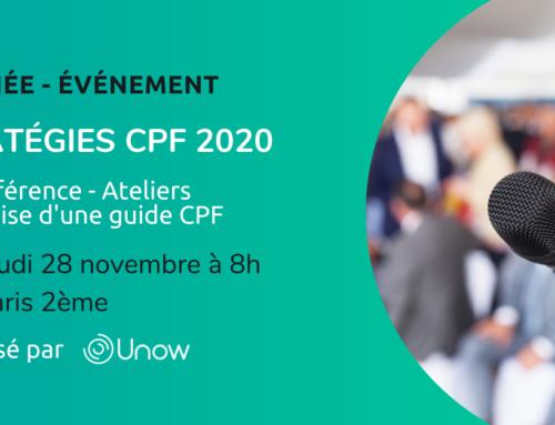 Conférence Unow sur les stratégies du CPF 2020 ! —CPFormation